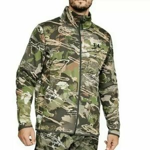 Under Armour Forest Camo zip up jacket men's M